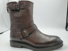 New Mens Bally Viator Brown Grained Calf Leather Boots Size US 6 Swiss Made $980
