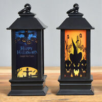 Halloween Vintage Pumpkin Castle Light Lamp Party Hanging Decor LED Lantern Lamp