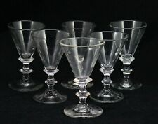 6x antique 18th C Desert Wine, Sherry, Port glass, ca. 1780 Holland 11cm/4.3inch