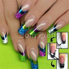 Colorful 3D French Nail Art Stickers French Edge Decals Manicure Nail Decoration