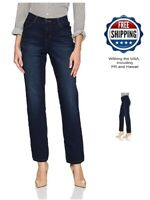 LEE Womens Classic Fit Sophie Stretch Straight Leg Jean Size 8 M Emery