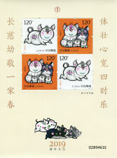 China Year of Pig Stamps 2019 MNH Chinese Lunar New Year 4v M/S