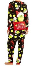 GRINCH Drop Seat CHRISTMAS Sz XL Women's Fleece PAJAMAS Union Suit One Piece