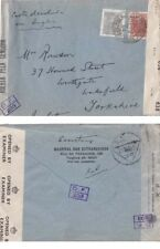 Brazil 1944 Double censored cover in Brazil and G.B {See below}