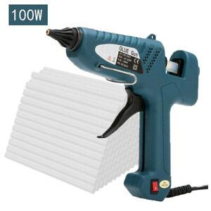 100W Industrial Glue Gun High Temperature Hot Melt Glue Gun +10PCS Glue Sticks