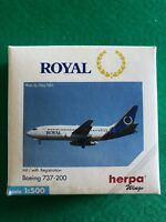 Boeing 737-200 Royal. Herpa Wings 1:500 - Art.-Nr. 505727