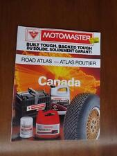 ROAD ATLAS MOTOMASTER CANADIAN TIRE ADVERTISING CANADA 1989