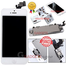 White For iPhone 5 5G LCD Touch Screen Digitizer Replacement+Home Button Camera