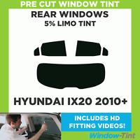 Pre Cut Window Tint - Hyundai ix20 2010+ - 5% Limo Rear
