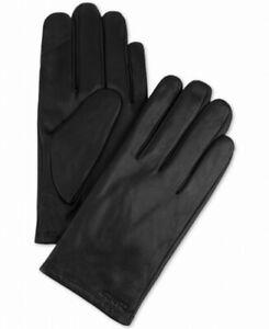 Calvin Klein Men's Winter Gloves Black Size XL Touchscreen Leather $70- #287
