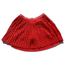 New Girls Justice Skirt Size 12 Red Pleated  Elastic