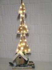 Dekoration Holz Tannenbaum 82 cm LED Batterie Weihnachtsdeko Weihnachten Advent