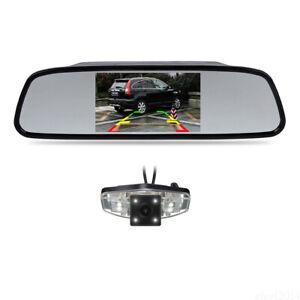 4.3'' Mirror Monitor IR Rear View Backup Camera For HONDA CIVIC FD 2006-2011