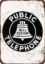 Bell System Public Telephone vintage look reproduction metal sign 8 x 12