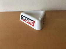 Used - Vintage Ashtray CINZANO Cenicero Vintage - White plastic Blanco - Usado