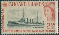 Falkland Islands 1964 SG215 2½d black and red Ship QEII MNH