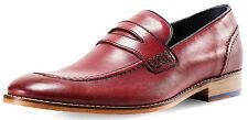 Goodwin Smith Men's Brisbane Slip on Moccasin Burgundy Shoes. UK 10. BOXED.
