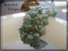 Amazonite Gemstone Cuff Bracelet Stretchy
