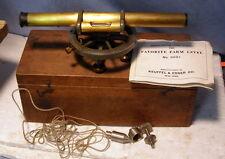 ** Vintage - K & E - BRASS Farm Transit - number 5691 w WOOD BOX - dated 1915 **