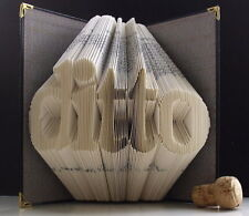 Folded Book Art Ditto 1st Paper Wedding Anniversary Engagement.Love token Ghost