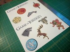 Game of thrones got emblem stickers