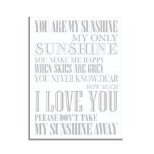 You Are My Sunshine Friendship Inspirational Cute Gift Fridge Magnet 4x3 inch