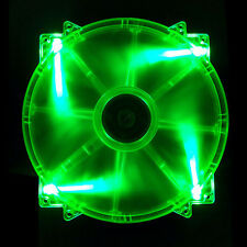 APEVIA CF20SL-UGN 20CM 200MM GREEN LED UV Reactive 12V 17dBA 1000RPM PC CASE FAN