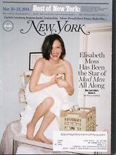 ELIZABETH MOSS ~~ New York Magazine ~~ March 10-23, 2014 ~~  E-1-3