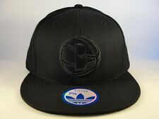 Brooklyn Nets NBA Adidas Fitted Hat Cap Size 7 5/8 Black