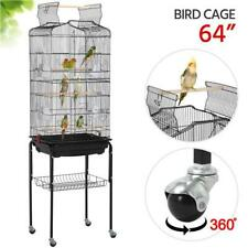 SmileMart Rolling Mid-Sized Parrot Bird Cage Cockatiel Conure Parakeet Lovebird