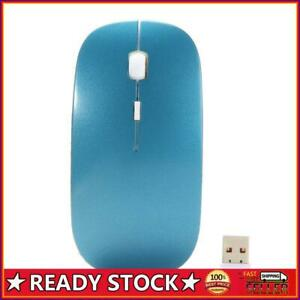 Optical Wireless Mouse 2.4G Receiver Ultra-thin for Computer PC blue