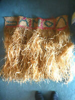 "Vintage Authentic original Grass Skirt hula Hawaiian 36"" x 36"" form 1950-1960"