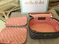 Stella Dot Bring Your Bling Stripe Travel Jewelry Case Holder