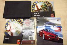 Alfa Romeo GT 2003-2010 Manual Del Propietario Manual & Service Libro Con Paquete De Cartera!!!