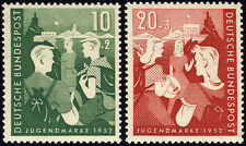 BUND 1952, MiNr. 153-154, 153-54, tadellos postfrisch, gepr. Schlegel, Mi. 45,-