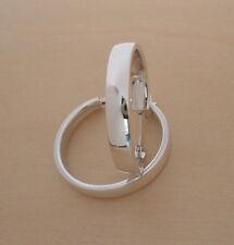 925 Sterling Silver Creole Huggies HOOP Earrings 20 mm Diameter & 5 mm Wide