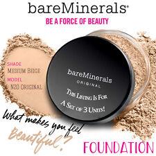 3x Bare Minerals Escentuals SPF 15 Foundation Medium Beige N20 8g XL PACK OF 3