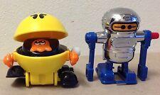 Tomy vintage Windup Pac Man 1982 Singapore & Robot 1979 Taiwan video game toy