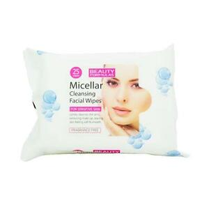 Beauty Formulas Micellar Cleansing Make Up Remover Wipes x 6 packets of 25