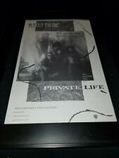 Private Life Put Out The Fire Rare Original Radio Promo Poster Ad Framed!