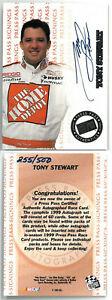Tony Stewart signed NASCAR 1999 Press Pass Authentics Signings Rookie Card- LTD