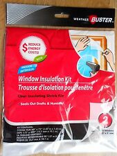 3 x Window Insulation Kits (To Insulate 6 Windows of 3' x 5' Size)