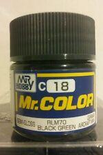 "Gunze Sangyo ""Mr Color"" acrylic paint C-18 RLM 70 Black Green 10ml"