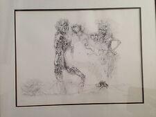 "Hans Bellmer ""Femme"" original pencil signed limited edition lithograph 83/100"