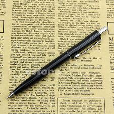 BAOER 37 Stainless Steel Push Ball Point Pen Black