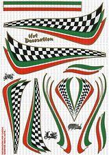 STICKER ADESIVO KIT ITALIA GRANDE DECORAZIONE AUTO MOTO CASCHI PC 35X25 CM