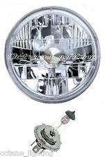"5-3/4"" 12V Motorcycle Halogen Headlight Headlamp Crystal Clear H4 Bulb 60/55W"