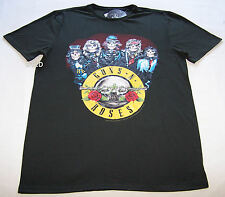 Guns N Roses Rock Mens Charcoal Printed Short Sleeve T Shirt Size XS New