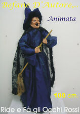 HALLOWEEN STREGA MALACHINA cm 100 Animata HORROR PARTY FESTA DECORAZIONE