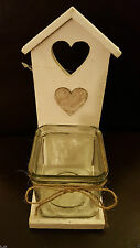 Unbranded Heart Shaped Rustic Candle & Tea Light Holders